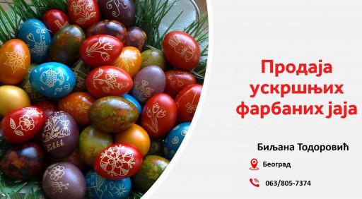 Biljana - Prodaja farbanih uskršnjih jaja