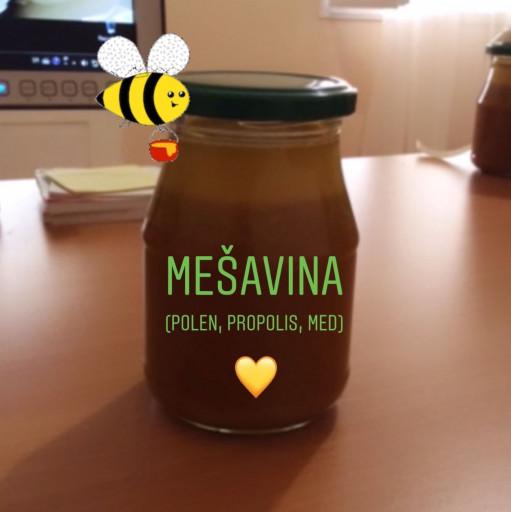 Mešavina polena, propolisa i meda